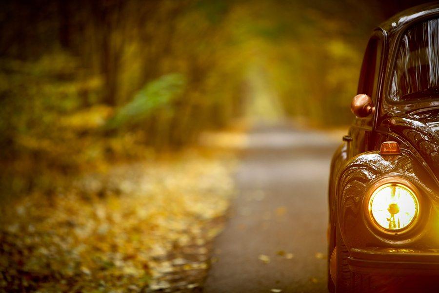 Autumn Vintage Car